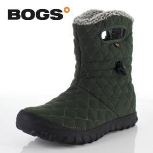 BOGS ボグス 靴 71952 B-MOC QUILTED PUFF ブーツ スノーブーツ ショートブーツ 防水 キルト ボア 緑 カーキ グリーン レディース セール|washington