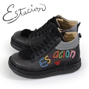 エスタシオン ブーツ 靴 estacion TGE316 (BL/MT) ショートブーツ アンクル レディース 黒 厚底 ローヒール|washington