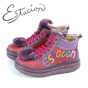 エスタシオン ブーツ 靴 estacion TGE316 (WIN/MT) ショートブーツ アンクル レディース ワイン 赤 マルチ 厚底 ローヒール|washington
