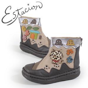エスタシオン 靴 ブーツ estacion TGE320 (OK/MT) レディース ブラウン オーク マルチ 本革 厚底 カジュアル ショート|washington