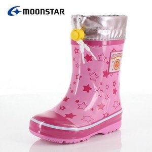 キッズ レインシューズ それいけ!アンパンマン MoonStar TRB APM32U PINK ピンク 男の子 女の子 ラバーブーツ 長靴|washington