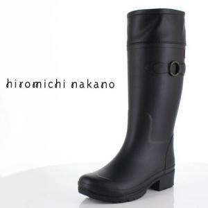 hiromichi nakano ヒロミチナカノ 長靴 HN WJ159R レインブーツ 防水 通学 2E 黒 ブラック ジュニア 子供 中学生 高校生 女性 レディース|washington