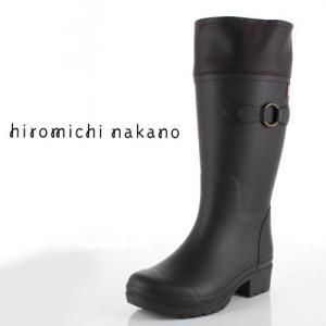 hiromichi nakano ヒロミチナカノ 長靴 HN WJ159R レインブーツ 防水 通学 2E 茶色 ブラウン ジュニア 子供 女性 レディース|washington