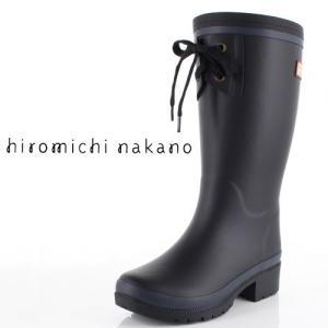 hiromichinakano ヒロミチナカノ 靴 HN WJ161R 長靴 レインブーツ 女の子 通学 子供 中学生 高校生 黒 ブラック ジュニア レディース|washington