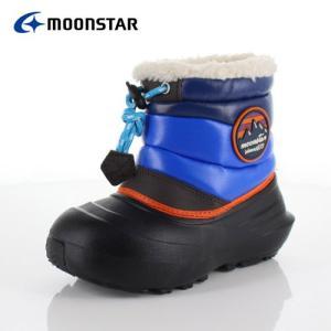 キッズ ブーツ 防水 MoonStar キャロット MS WPC 003 BLACK BK-00003 男の子 ウインター ボア付き ブラック ブルー washington