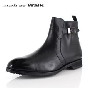 マドラスウォーク ゴアテックス madras Walk SPMW8007 BLA メンズ ドレスブーツ ビジネスシューズ 防水 防滑 革靴 4E ブラック|washington