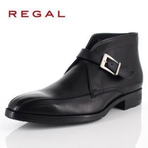 リーガル REGAL 靴 メンズ ブーツ 49RR BEP ブラック ストラップブーツ 外羽根式 スワールトゥ 日本製 3E 本革 GORE-TEX 防水 特典B washington