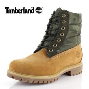 ティンバーランド Timberland メンズ ブーツ シックスインチ プレミアム パファーブーツ A1ZRH 1 イエロー カモフラ 靴 防水 防寒 セール|washington