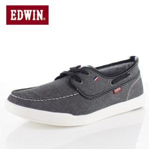 エドウィン EDWIN EDW-7157 ブラック デッキシューズ スニーカー 軽量 メンズ 靴 カジュアルシューズ|washington