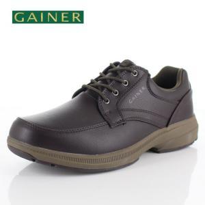 メンズ ウォーキングシューズ ゲイナー 023 GAINER GN023 ブラウン 4E 靴 紳士靴 防水|washington