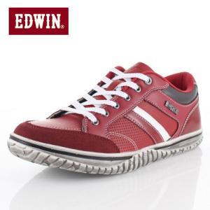 EDWIN エドウィン EDW-7537 RED メンズ スニーカー カジュアル 軽量 カップインソール ローカット レッド|washington