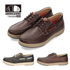 スニーカー メンズ アメリカニーノ エドウィン AMERICANINO EDWIN AE836 ネイビー カジュアルシューズ 軽量 靴 デッキシューズ|washington