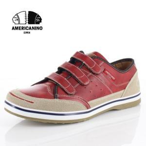 スニーカー メンズ アメリカニーノ エドウィン AMERICANINO EDWIN AE871 レッド カジュアルシューズ 軽量 靴 ベルクロ|washington