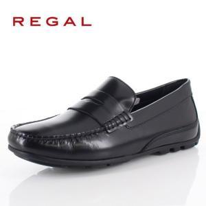 リーガル 靴 メンズ REGAL 52TRAF ブラック カジュアルシューズ ローファー スリッポン 2E 本革 紳士靴 特典B|washington