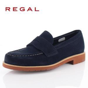 リーガル 靴 メンズ REGAL 53TRBJ ネイビー スエード カジュアルシューズ ローファー ゴアテックス 2E 本革 防水 紳士靴 特典B|washington