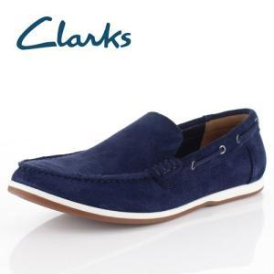 クラークス メンズ Clarks Morven Sun モーベンサン 83 ネイビー デッキシューズ スリッポン 紳士靴 靴 正規品 本革 washington