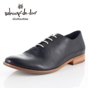 メンズ カジュアルシューズ フープディドゥ whoop-de-doo 308204 ブラック ラウンドトゥ 内羽根式 靴 本革|washington