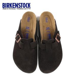 ビルケンシュトック BIRKENSTOCK ボストン レディース メンズ BOSTON BS 0660461 幅広 サンダル スエード モカ ブラウン 国内正規品|washington