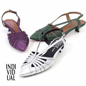 INDIVIDUAL インディヴィジュアル ラボキゴシ 靴 6400 レッドソール バックストラップパンプス ベルト ローヒール レディース 日本製|washington