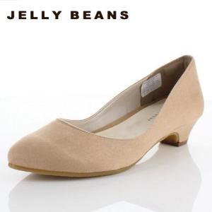 JELLY BEANS ジェリービーンズ 靴 2401 パンプス プレーンパンプス ローヒール アーモンドトゥ ベージュ レディース|washington