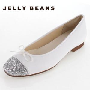 JELLY BEANS ジェリービーンズ 靴 2371 パンプス バレエパンプス バレエシューズ スクエアトゥ リボン 白 ホワイト 日本製 レディース|washington