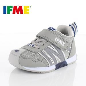 IFME イフミー 子供靴 スニーカー キッズ 30-9008 BASIC GREY 通園 通学 運動靴 グレー|washington
