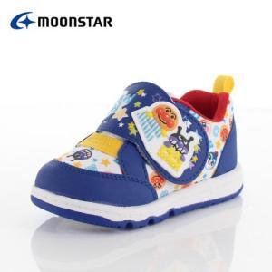 moonstar ムーンスター APM B28 アンパンマン キャラクター キッズ ベビー カジュアルシューズ 子供靴 2E ブルー 青|washington