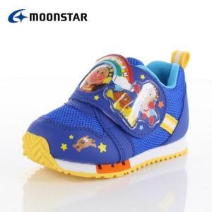 moonstar ムーンスター アンパンマン APM C150  キャラクター キッズ ベビー カジュアルシューズ 子供靴 2E ブルー 青 男の子|washington