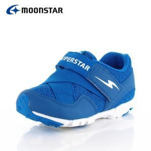 ムーンスター スーパースター バネのチカラ キッズ スニーカー MoonStar K875 BLUE 2E 超軽量モデル 子供靴 運動 体育 ブルー|washington