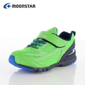 ムーンスター キッズ スニーカー スーパースター バネのチカラ MoonStar SS K876 グリーン 2E 子供靴 運動 体育|washington