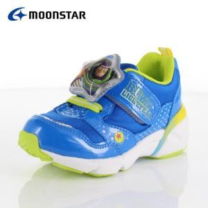 ムーンスターMoonStar キッズ スニーカー DN C1226 MIX BLUE ディズニー バズライトイヤー 青|washington