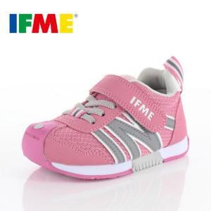 IFME イフミー 子供靴 スニーカー キッズ 30-9008 BASIC PINK 通園 通学 運動靴 ピンク|washington
