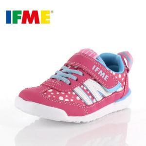 スニーカー イフミー キッズ IFME Light シューズ 22-9009 PINK ピンク ジュニア 子供靴 ベルクロ 軽量|washington