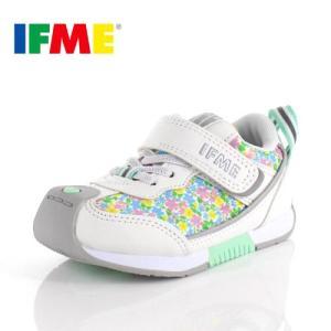 スニーカー イフミー キッズ IFME BASIC シューズ 30-9014 WHITE ホワイト ジュニア 子供靴 ベルクロ 軽量|washington