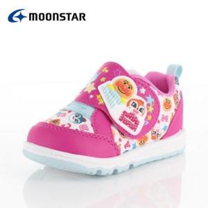 moonstar ムーンスター APM B28 アンパンマン キャラクター キッズ ベビー カジュアルシューズ 子供靴 2E ピンク 女の子|washington
