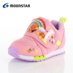 moonstar ムーンスター アンパンマン APM C150  キャラクター キッズ ベビー カジュアルシューズ 子供靴 2E ピンク 女の子|washington