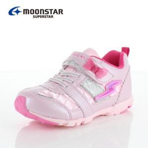 ムーンスター スーパースター バネのチカラ キッズ スニーカー MoonStar K894 PINK キッズ 2E ピンク 子供靴 運動 体育|washington