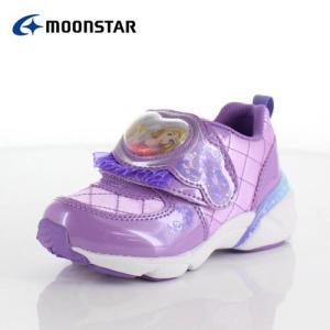 moonstar ムーンスター DN C1225 ディズニープリンセス ラプンツェル キッズ ベビー カジュアルシューズ 子供靴 2E パープル ピンク|washington
