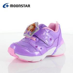 moonstar ムーンスター DN C1226 ディズニープリンセス ソフィア キッズ ベビー カジュアルシューズ 子供靴 2E パープル ピンク|washington