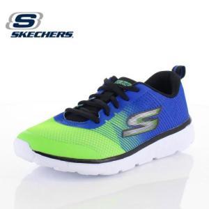 キッズ スニーカー スケッチャーズ SKECHERS GORUN 400 FAST PACE 97684L-BLLM ボーイズ 子供靴 ブルー グリーン ジュニア|washington