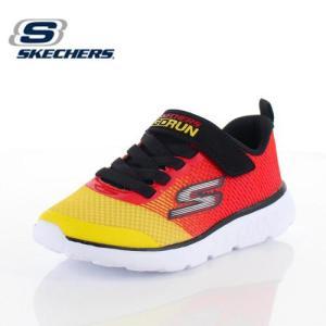 スケッチャーズ キッズ スニーカー Skechers GOrun 400-Kroto 97685L-RDYL RY/3Y レッド イエロー 子供靴 運動 体育|washington