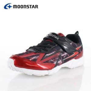 ムーンスター スーパースター バネのチカラ ジュニア スニーカー MoonStar J885WS RED 2E イナズマスプリンター 子供靴 運動 体育 レッド|washington