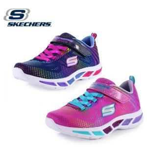 キッズ スニーカー スケッチャーズ SKECHERS Litebeams-Gleam N' Dream 10959-NVNL NPMT ライトアップ 光る靴 ガールズ ネイビー ピンク|washington