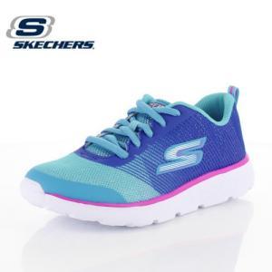 キッズ スニーカー スケッチャーズ SKECHERS GORUN400-SHIMMER ZOOMS 81353-BLAQ ガールズ 子供靴 ブルー ジュニア|washington
