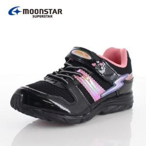 ムーンスター MoonStar スーパースター SS J904 靴 スニーカー 1E 軽量 黒 ブラック 女の子 キッズ ジュニア|washington
