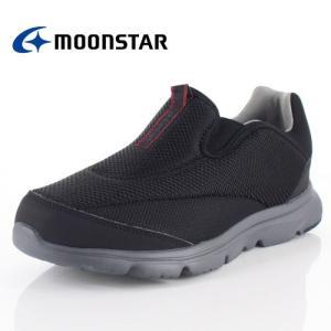 スニーカー メンズ ムーンスター MoonStar SPLT M180 ブラック ウォーキングシューズ スリッポン 靴 4E 抗菌 軽量|washington
