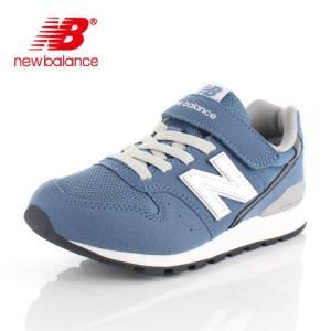 ニューバランス キッズ ジュニア スニーカー new balance YV996 CDB DENIM BLUE ブルー 通学 ベルクロ|washington