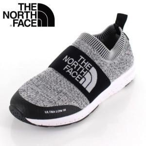 THE NORTH FACE ザ ノースフェイス 靴 NFJ51947 K Ultra Low III ウルトラロー スリッポン キッズ ジュニア グレー|washington