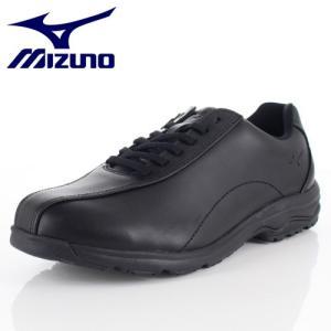 ミズノ MIZUNO メンズ ウォーキングシューズ LD40V SW B1GC191809 ブラック 本革 靴 4E 抗菌 防臭|washington