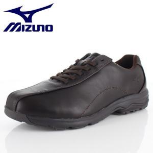 ミズノ MIZUNO メンズ ウォーキングシューズ LD40V SW B1GC191858 ダークブラウン 本革 靴 4E 抗菌 防臭|washington